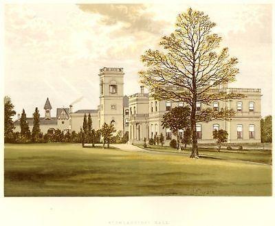 Morris's County Seats - Castles - STOWLANGTOFT HALL - Chromo - 1866