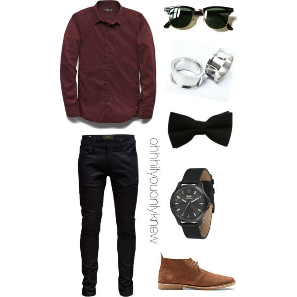 Untitled #238 by ohhhifyouonlyknew on Polyvore featuring 21 Men, Jack & Jones, Vestal and Ray-Ban