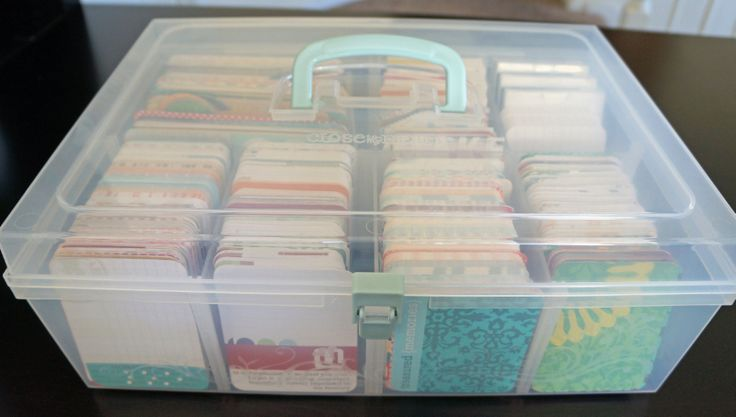 Project Life journaling card storage... I have one of these on the way to me in the mail and I can't tell you how excited I am!