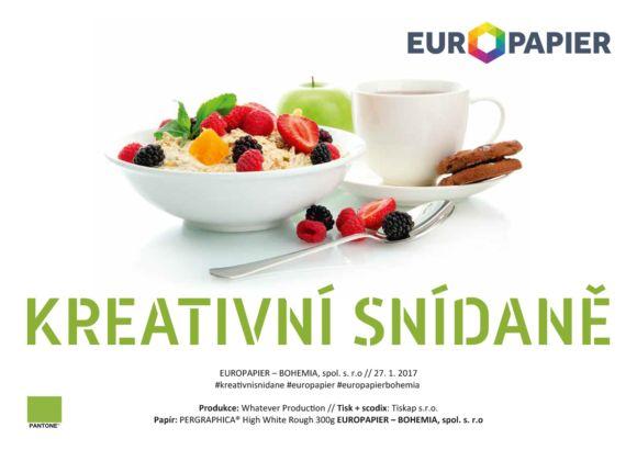 Kreativní snídaně – Europapier Bohemia   https://detepe.sk/kreativni-snidane-europapier-bohemia-2