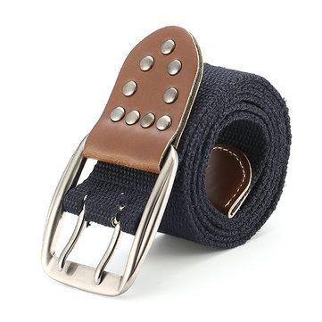110CM Men Casual Canvas Belt Women Outdoor Wasitband Jeans Belts