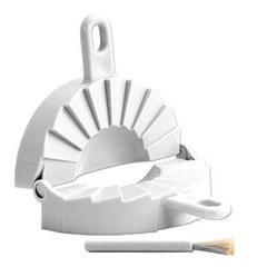 Japanese Plastic Gyoza Dumpling Pot Stickers Pastries Pierogi Press Maker Mold with Brush - Sears
