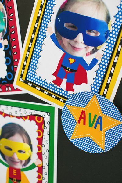 Super Hero Name Tags