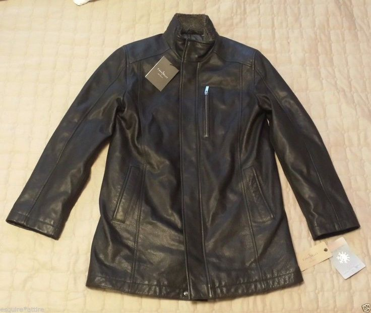 #men Cole Haan Men's Size S Long leather coat Thermore Insulation ColeHaan withing our EBAY store at  http://stores.ebay.com/esquirestore