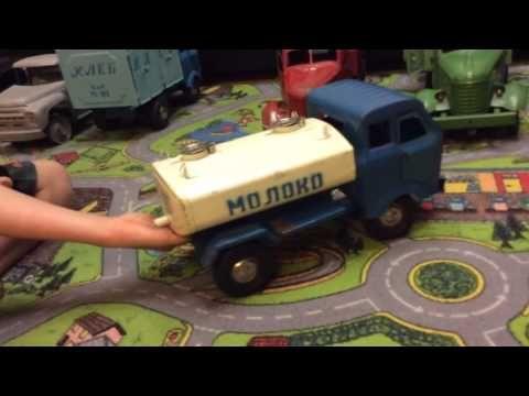 Игрушки железные грузовики СССР - YouTube