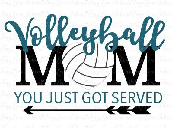Volleybal Mom Design voor Silhouette en andere kniptangen (.svg / .dxf / .eps / .pdf / .png)
