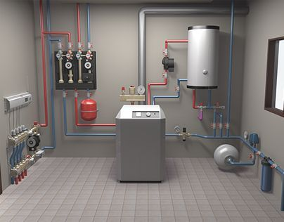 "Check out new work on my @Behance portfolio: ""3D model of in-house heating system""…"