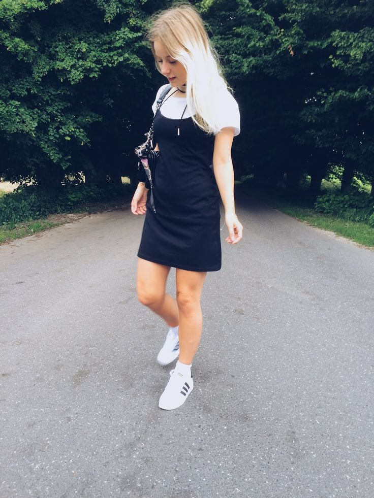Emiily: Slip dress and a T-shirt