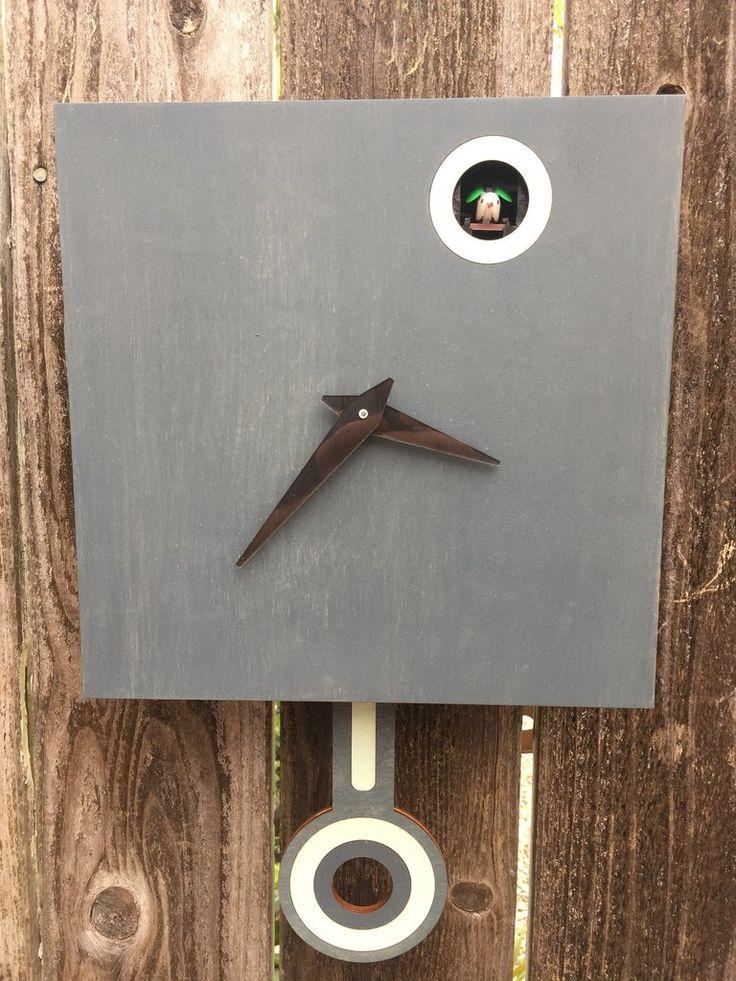 Modern Cuckoo Clock - Charcoal Gray