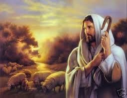 Jesus is portrayed as a shepherd
