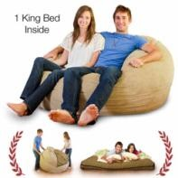 King Size Bean Bag Chair which also has a king sized mattress stuffed inside!! Brilliant!