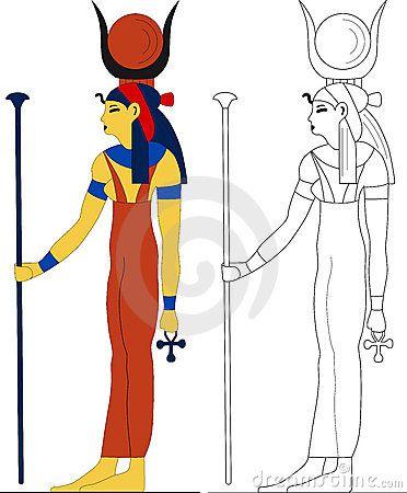 Alte ägyptische Göttin - Hathor