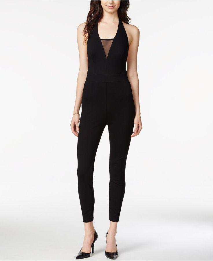 GUESS Illusion-Detail Halter Jumpsuit - Juniors Jumpsuits U0026 Rompers - Macyu0026#39;s | Clothes ...