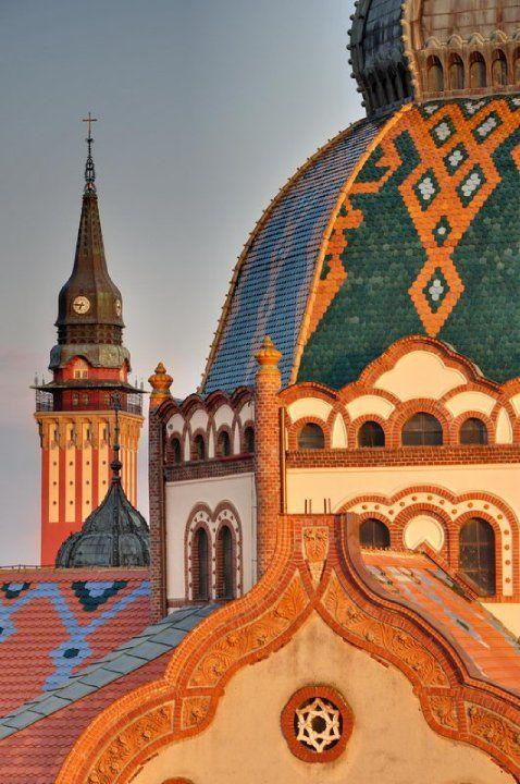 The Jakab and Komor Synagogue, Subotica-Szabadka, Serbia Art Nouvo style, 1902.