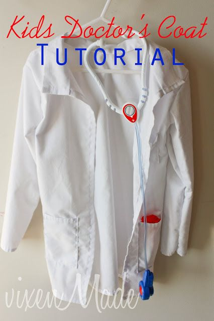 vixenMade: Kids Doctor's Coat Tutorial