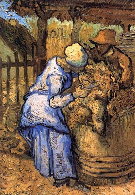 Κουρείς προβάτων - 1889 (από έργο του Ζαν Φρανσουά Μιλέ)