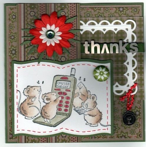 Voorbeeldkaart - Thanks - Categorie: Scrapkaarten - Hobbyjournaal uw hobby website