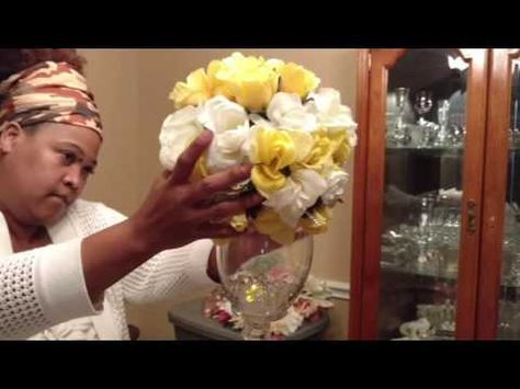 DIY Wedding Centerpiece/ Dollar Tree Golden Wedding Anniversary Project - YouTube