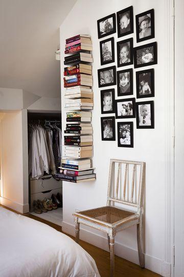 Une étagère invisible pour ranger ses livres - Une chambre bien ...