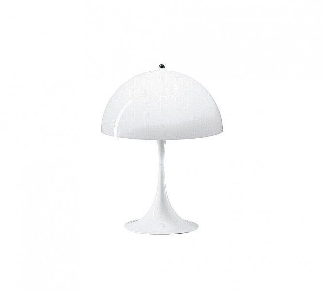 LOUIS POULSEN - Tischleuchte Panthella, Weiß, 58cm| SCHÖNER WOHNEN-Shop Die Tisch- und Stehleuchte Panthella, 1971 von Verner Panton entworfen, erfreut sich noch immer großer Beliebtheit. Die organischen Formen sind, ebenso wie die leuchtenden Farben, typisch für seinen Stil. Es ging ihm darum, eine Leuchte zu kreieren, bei der Fuß und Schirm als Reflektor dienten.