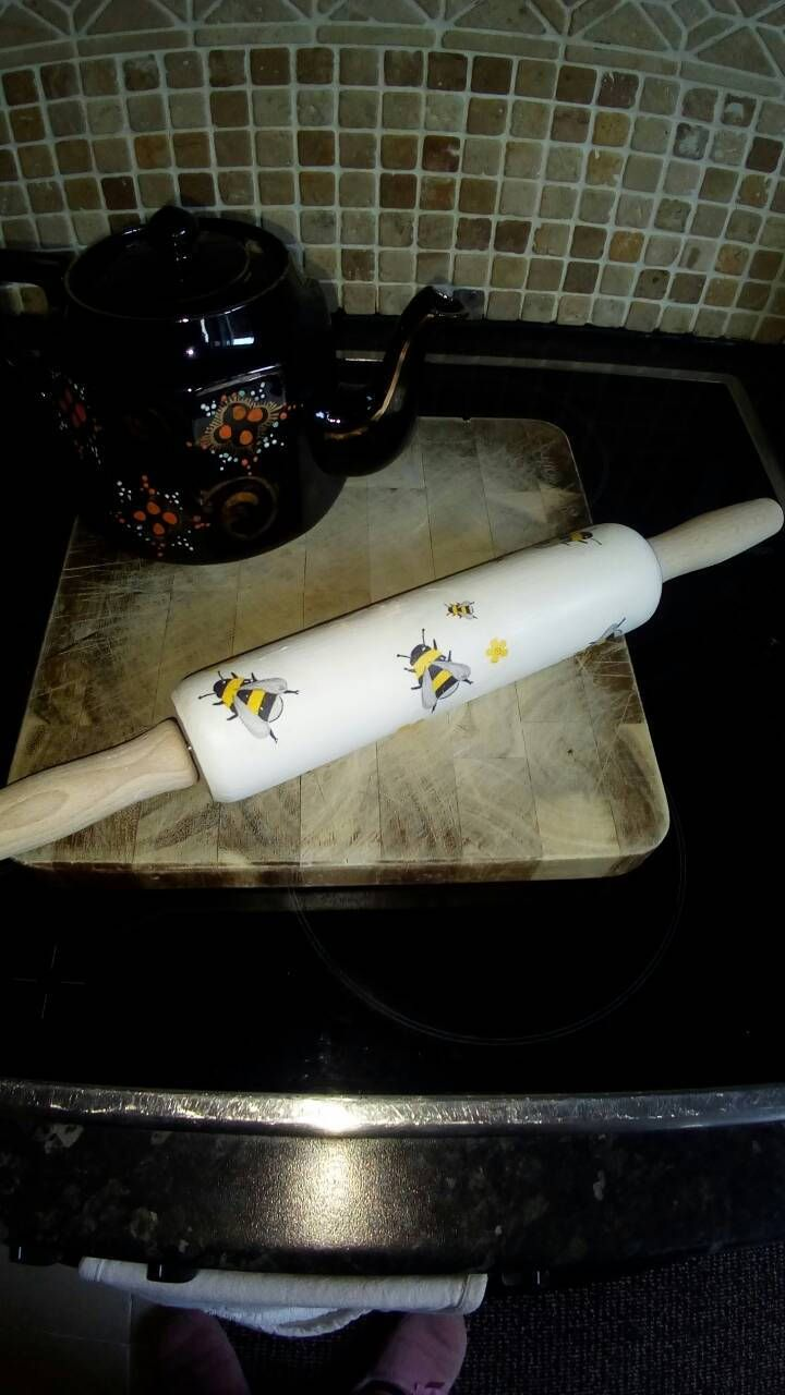 Excited to share the latest addition to my #etsy shop: Busy bee traditional rolling pin handcrafted using only the finest products and to a high standard very shabby chic http://etsy.me/2AKPWVT #housewares #homedecor #white #christmas #office #birthday #handmade #shabbychic #brid