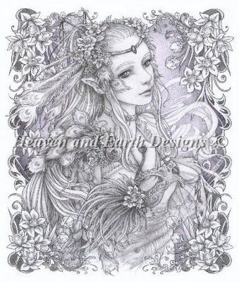 Mini Masquerade Pale Dawn Finished Design Size 240 By 281 H 9 1 Adult Coloring PagesFairy