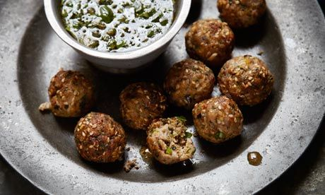 Spicy pork meatballs with dipping sauce and more easy canapes