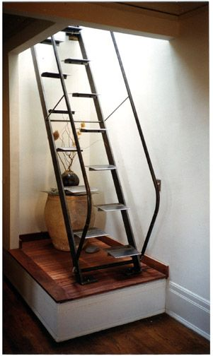 ships ladder to loft  lofts in 2019  Loft stairs Ship ladder Loft conversion stairs