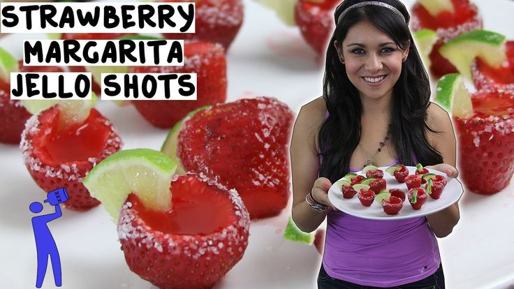 How to make Strawberry Margarita Jello Shots - Tipsy Bartender Sounds like a great summer treat.  J, J&E let's get it!!