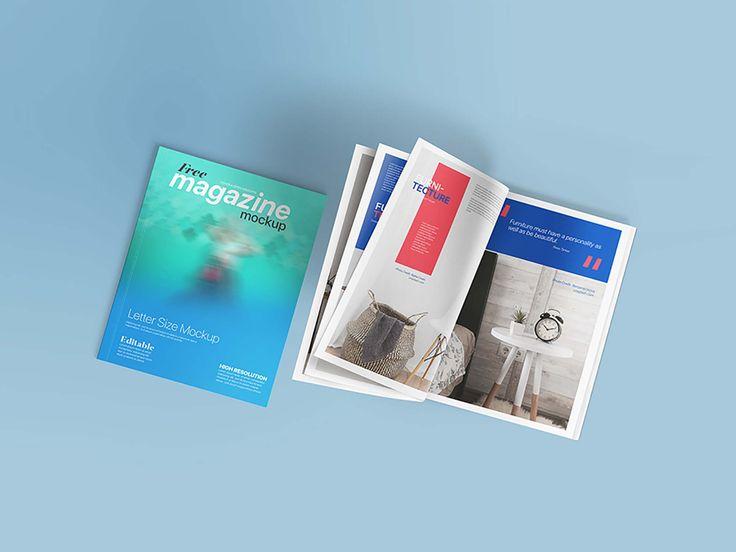 Free Letter Size Magazine Mockup Psd Magazine Mockup Psd Magazine Mockup Free Lettering
