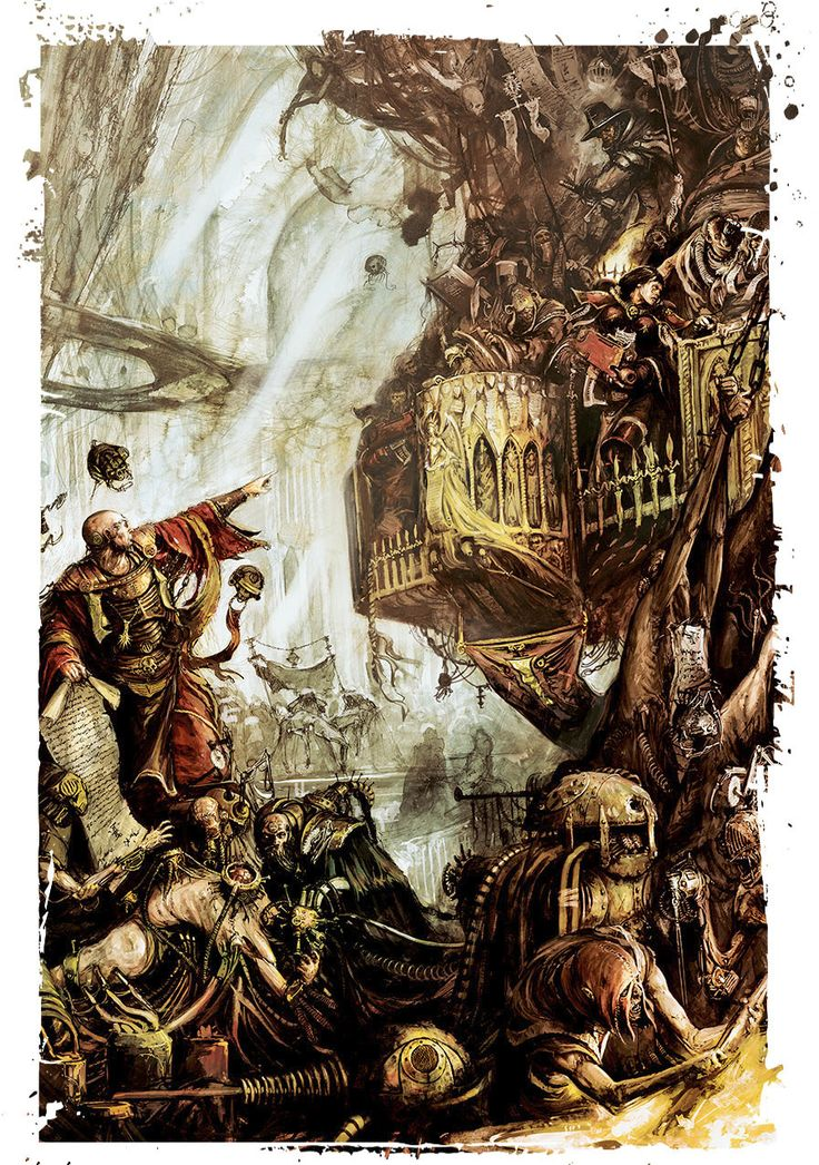 The art of Warhammer 40.000, Dark Art, just like the books, I always had the impression of shadow and grit while I was reading the books.