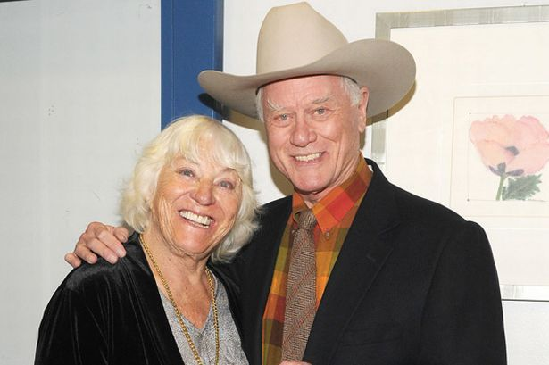 Larry Hagman with his wife Maj Axelsson