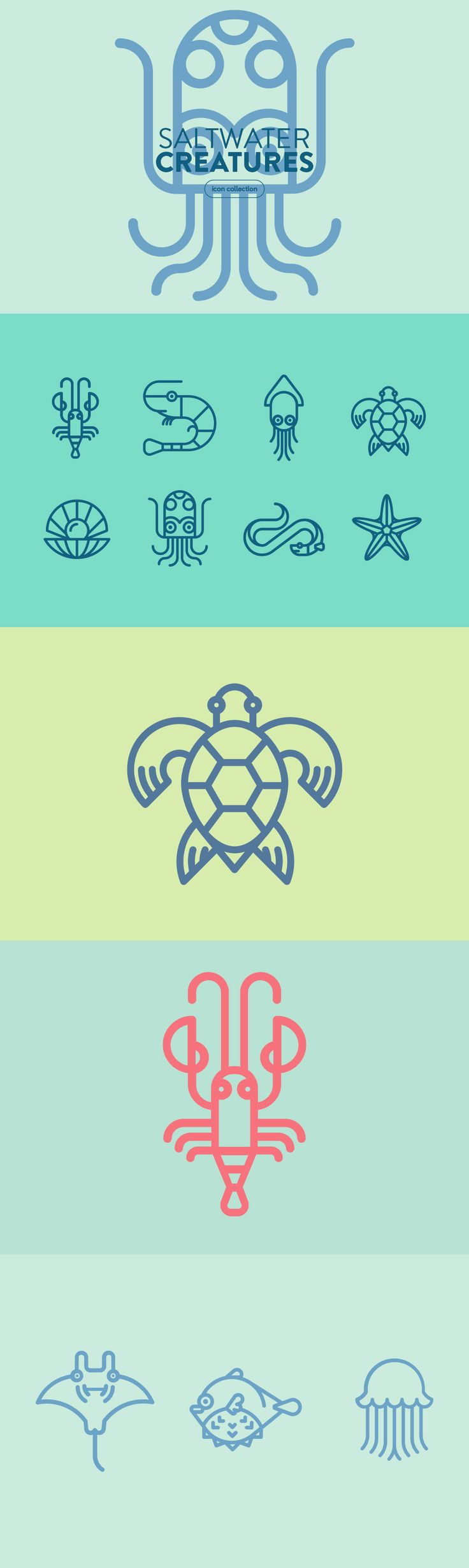 Saltwater Creatures - Graphics - YouWorkForThem