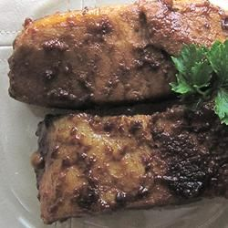 Mom's Stovetop Pork Ribs Allrecipes.com  One reviewer: I used boneless country style pork loin ribs to lower the saturated fat and used 2 Tbsp minced garlic. Also needed 50 minutes to cook dry.