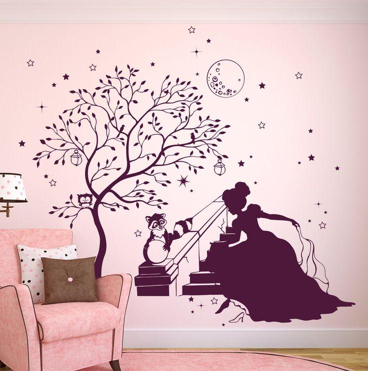 Cinderella Princess, Mural Wall, Wall Stickers, Graz, Motifs, Stars, Tree  Wall Decals, Princesses, Hare
