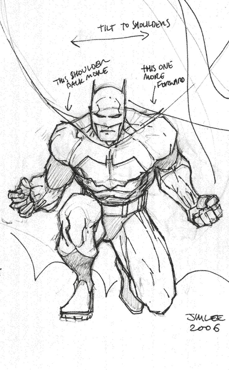 How to draw batman by jim lee