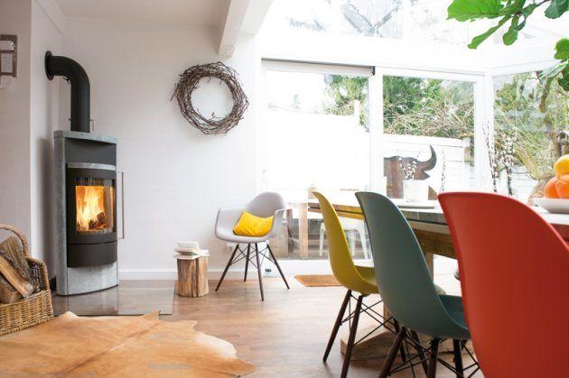 Kamin - Ofen - Esszimmer - fireplace - Hase -Kaminofenbau