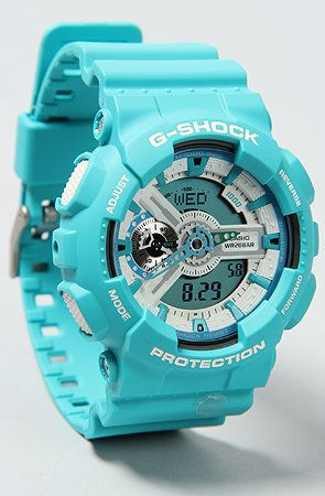 (3) sabrasativa's save of G-SHOCK The GA110 Watch in Baby Blue : Karmaloop.com - Global Concrete Culture on Wanelo