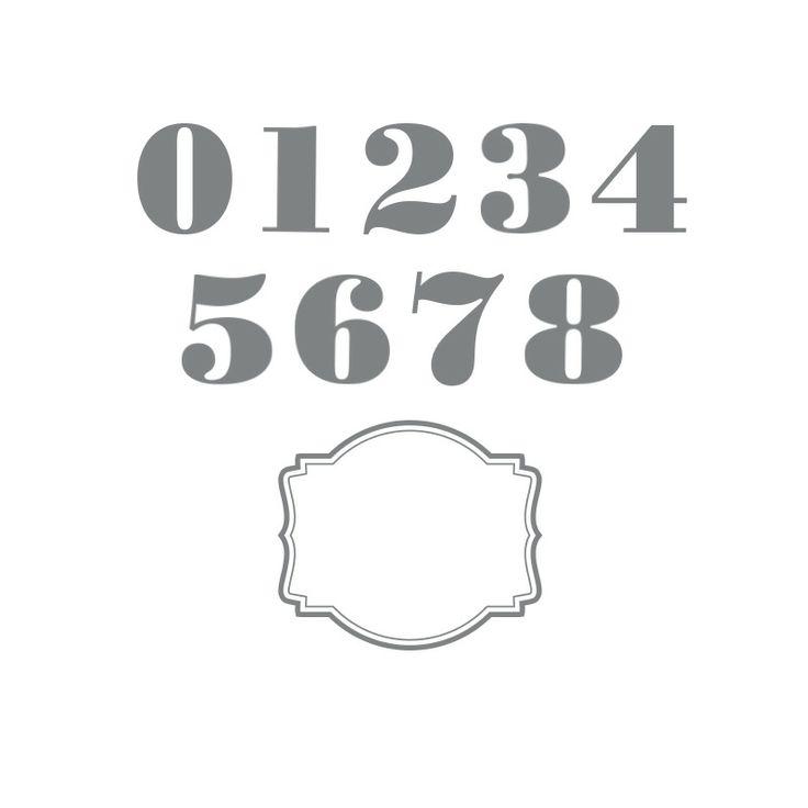 My Digital Studio | Morning Post Numbers Stamp Brush Set-Item #136676