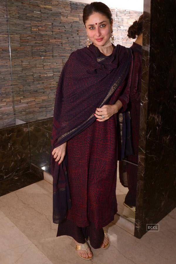 Kareena Kapoor at Soha Ali Khan's mehendi ceremony. #Bollywood #Fashion #Style #Beauty