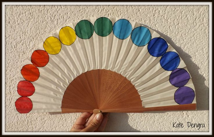 Rainbow Pride Circles Arch LGBT or Any Color Design Customized or Plain Flamenco Painted Wooden Folding Hand Handheld Fan by Kate…