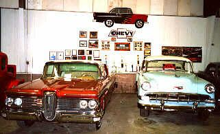 Impressive car collection, property of the Winthrop Rockefeller family, on Petit Jean Mountain