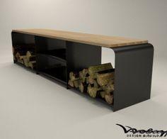 Kaminholzaufbewahrung Sideboard Regal STahl Metall Brennholzaufbewahrung