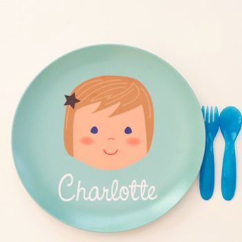 eeek, so cute!: Kitchens Design, Decor Kitchens, Kids Stuff, For Kids, Gifts Ideas, Interiors Design Kitchens, Kids Gifts, Personalized Plates, Birthday Gifts