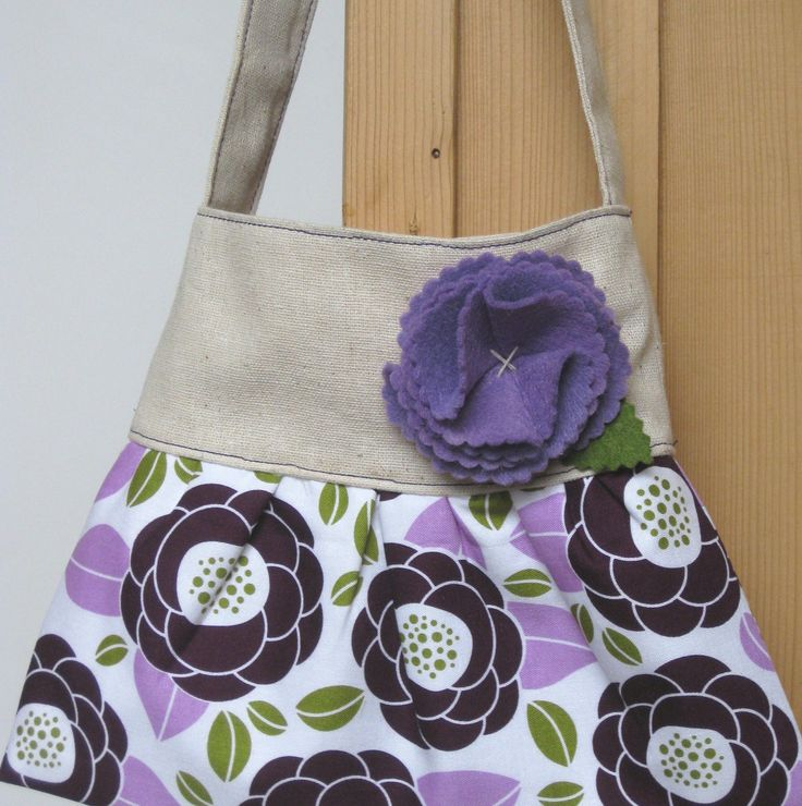 little girls purse toddler handbag tote in purple by Neatokiddo
