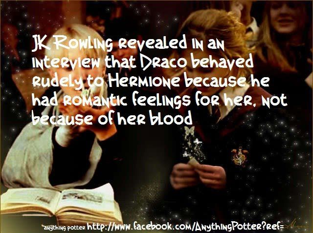 I don't know if this is true, but I always felt that if Hermione did not end up with Ron, she'd have ended up with Draco for this very reason. That being said - RON AND HERMIONE FOREVER!!!!