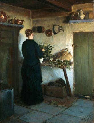 Viggo Johansen: Kitchen interior. 1884   Skagens Kunstmuseer    Art Museums of Skagen