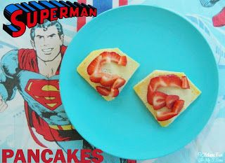 Kitchen Fun With My 3 Sons: Easy Superman Pancakes