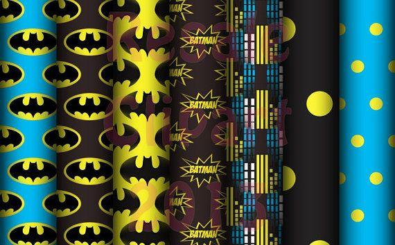 DIGITAL SCRAPBOOKING CLIPART - Batman Backgrounds