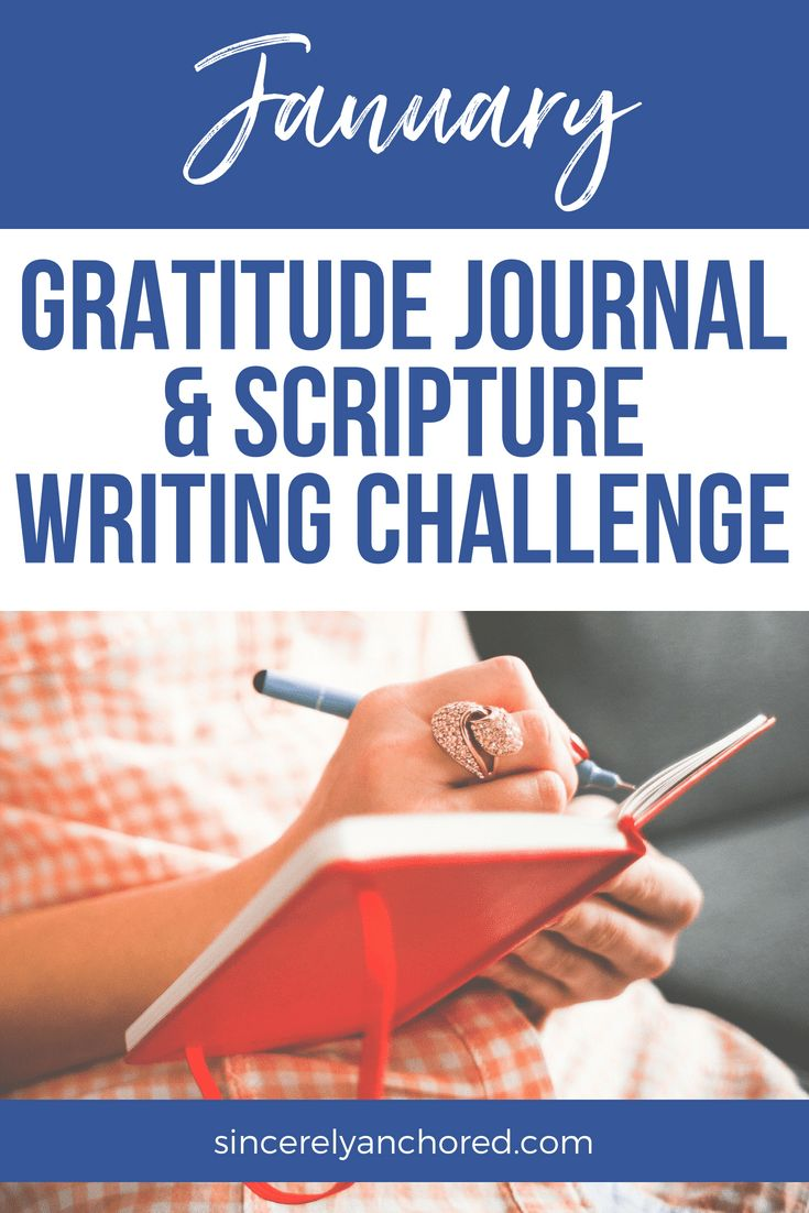 January Gratitude Journal & Scripture Writing Challenge